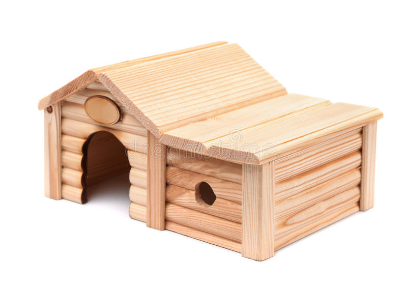Casa de madera del juguete foto de archivo