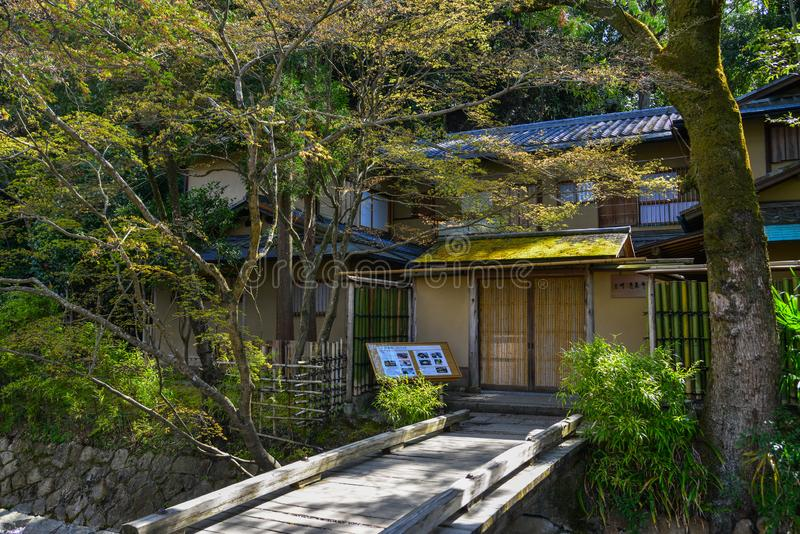 Casa de madera en Kyoto, Jap?n imagenes de archivo