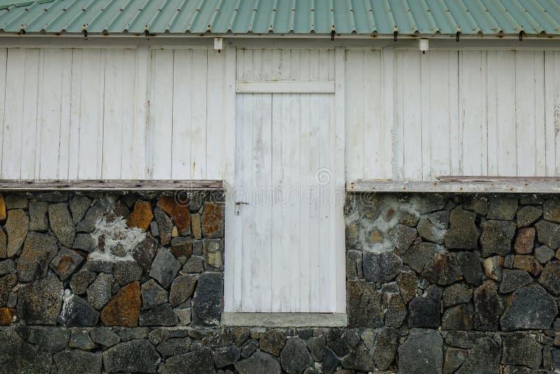 Casa de madera en Mauricio fotografía de archivo libre de regalías