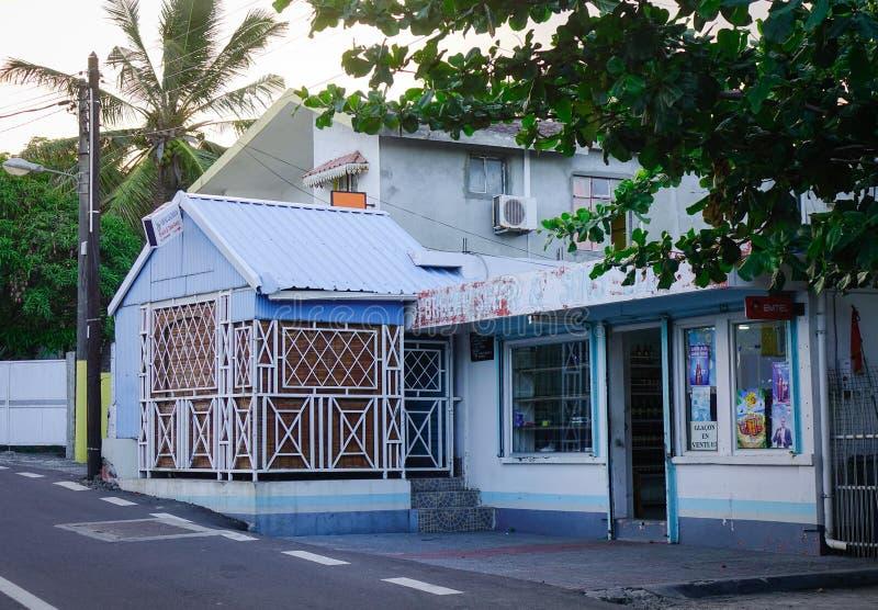 Casa de madera en Mauricio fotografía de archivo