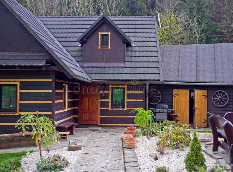 Casa de madera histórica fotografía de archivo libre de regalías