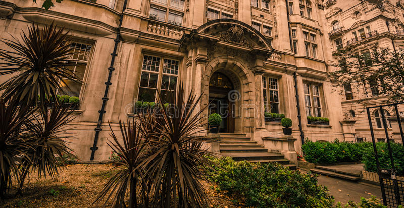 Casa de mansão luxuosa em Londres imagem de stock royalty free