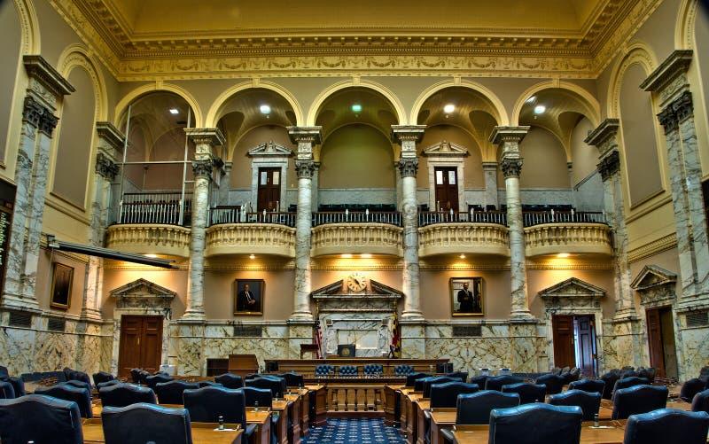 Casa de Maryland da câmara dos delegados em Annapolis fotos de stock