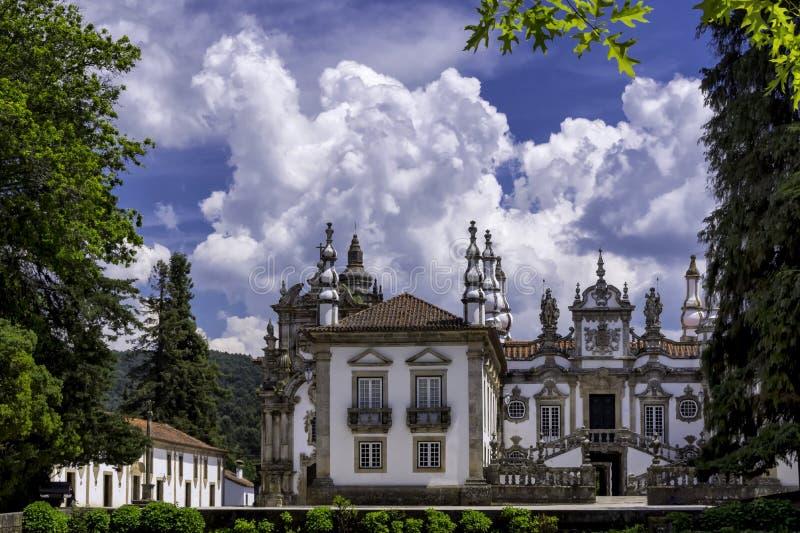 Casa de Mateus, Portugal. Baroque architecture of Casa de Mateus, Portugal royalty free stock photography