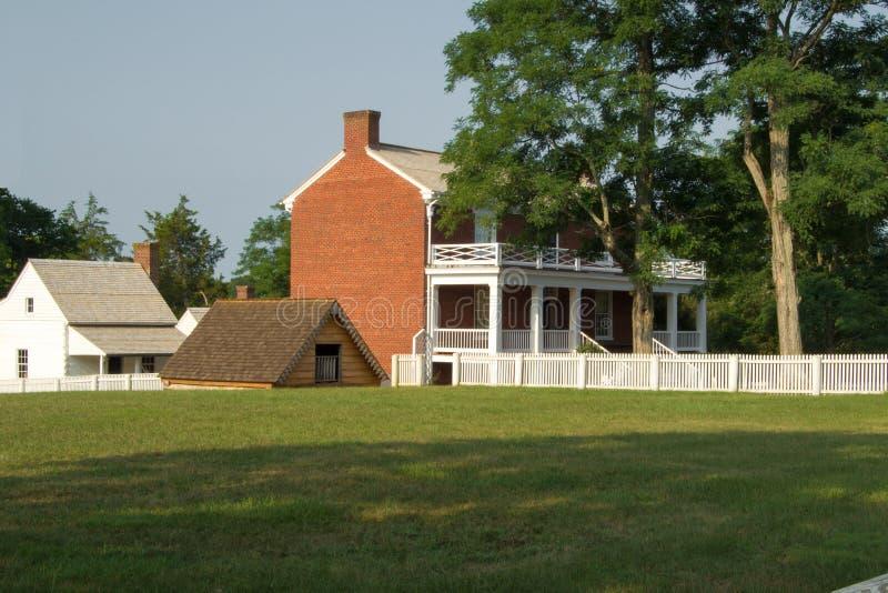 Casa de Mclean - parque histórico nacional del Palacio de Justicia de Appomattox imágenes de archivo libres de regalías