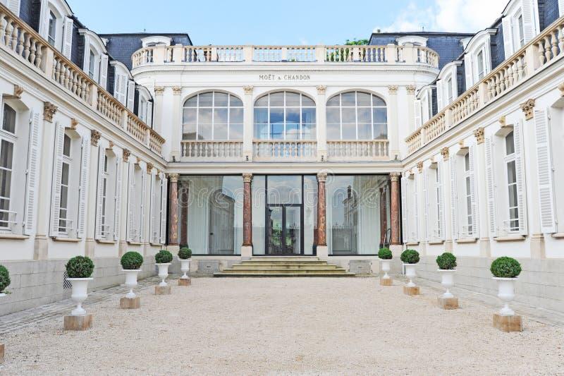 Casa de Moet & Chandon Champagne fotos de stock
