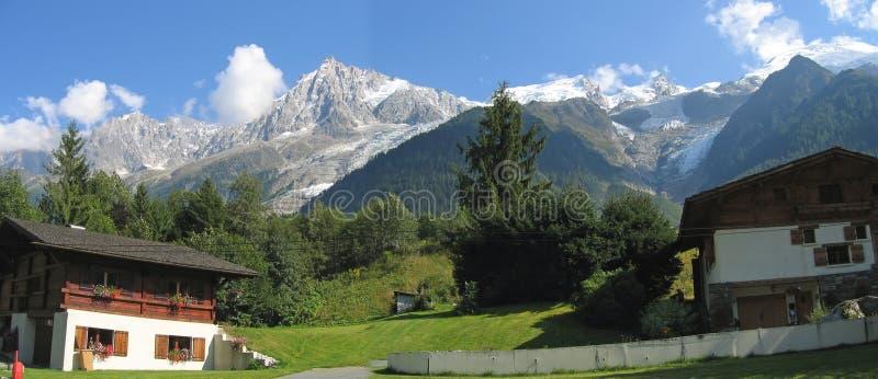 Casa de Moutain no Chamonix fotografia de stock royalty free