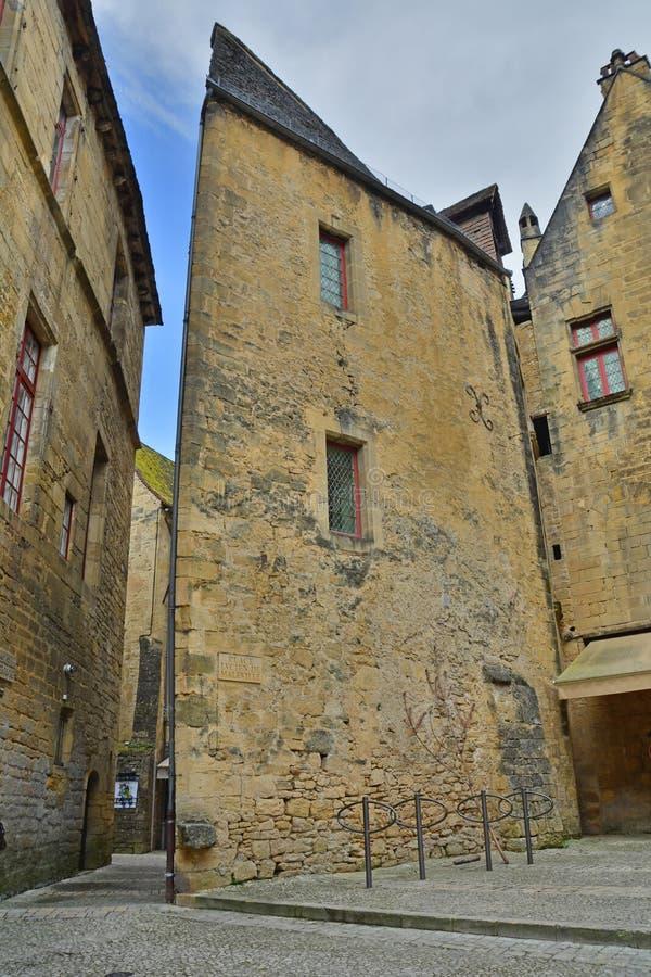 Casa de Ângulo Medieval fotos de stock