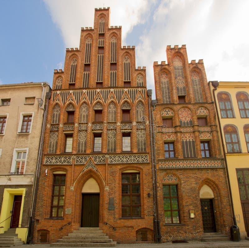 Casa de Nicholas Copernicus, Torun, Poland foto de stock