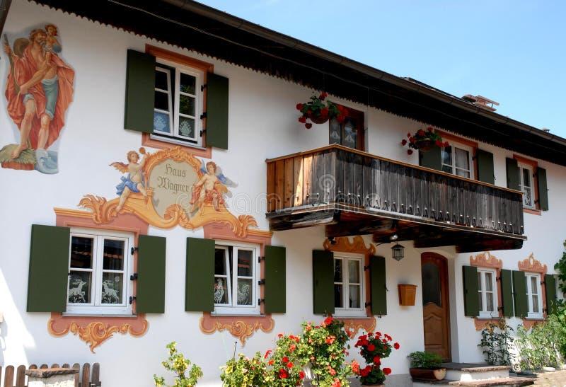 Casa de Oberammergau en Baviera (Alemania) fotografía de archivo libre de regalías