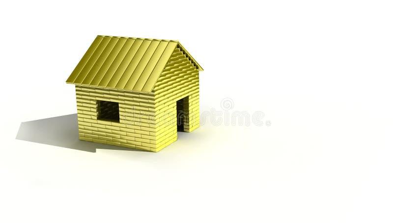 Casa de oro ilustración del vector