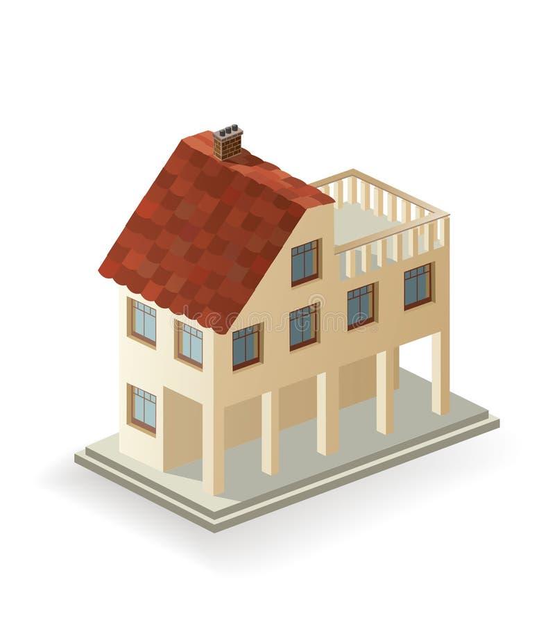 Casa de ?ountry ilustración del vector