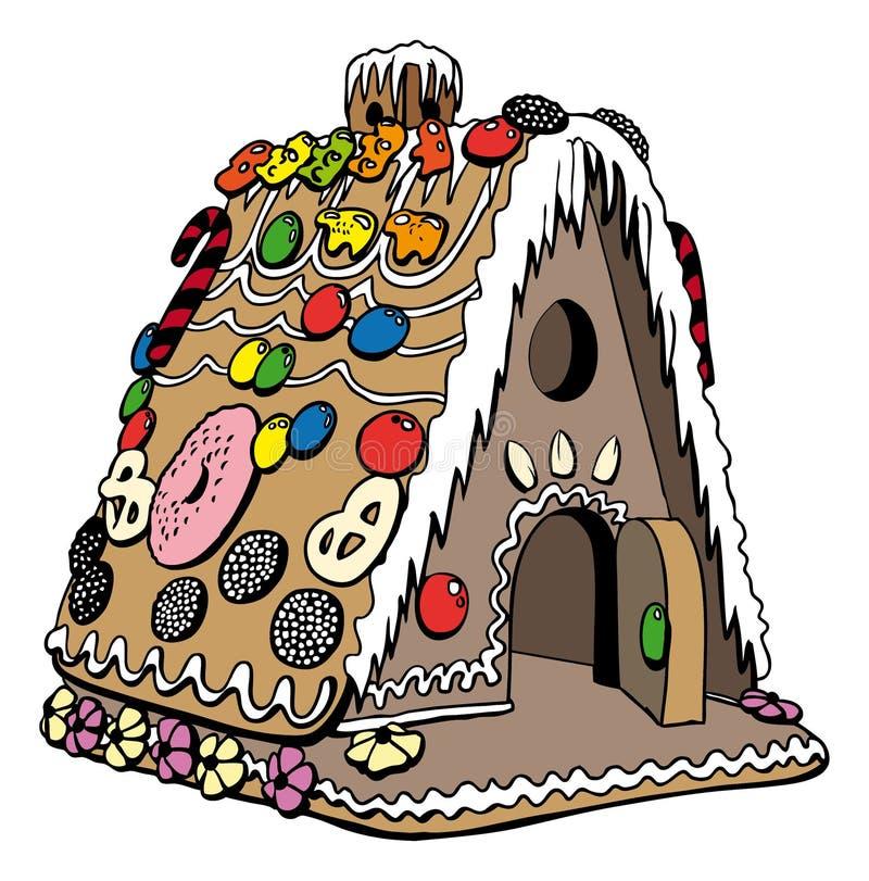 Casa de pão-de-espécie ilustração stock