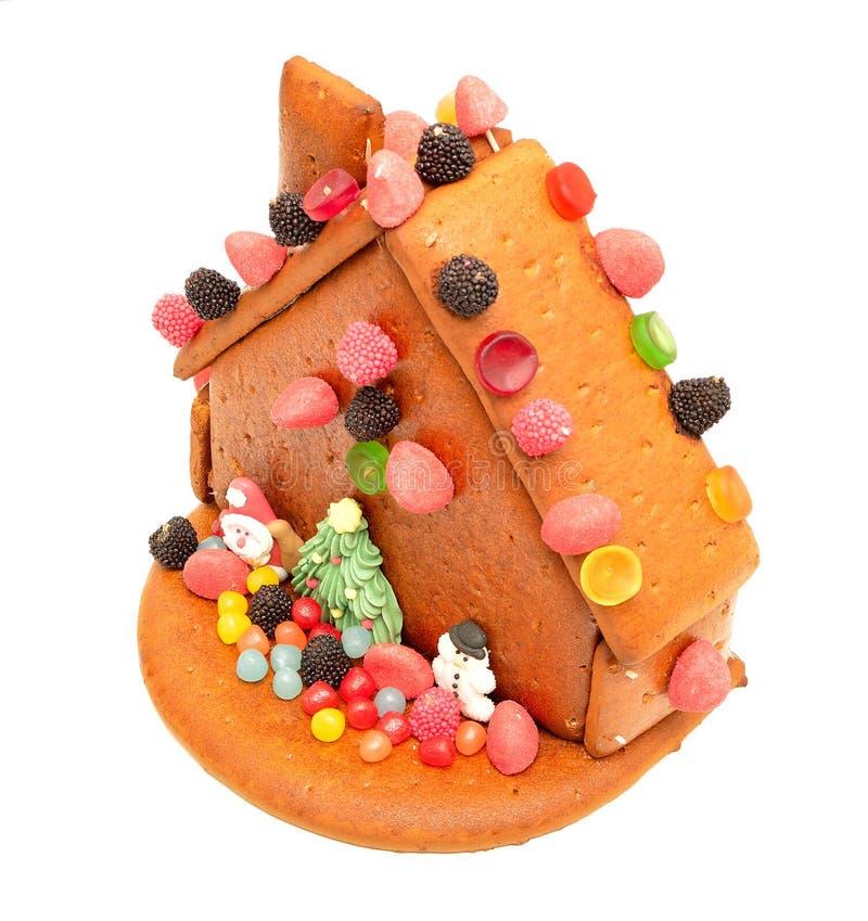 Casa de pão-de-espécie decorada fotografia de stock royalty free