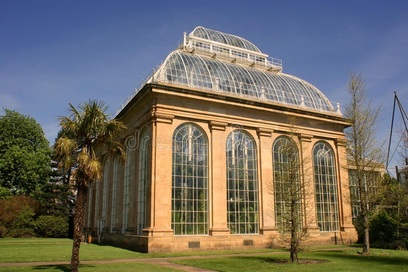 A casa de palma, jardim botânico real, Edimburgo. fotografia de stock