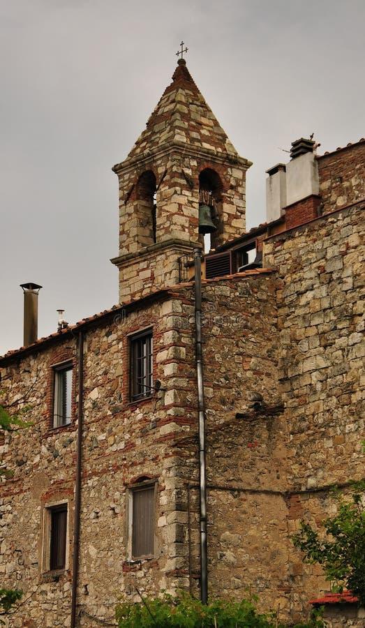 Casa de pedra do vintage em Toscânia, Itália foto de stock royalty free