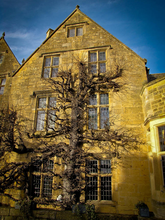 A casa de pedra em Broadway, Cotswolds fotos de stock royalty free