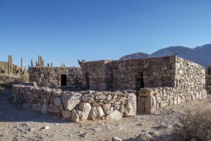 Casa de pedra na cidade antiga de Tilcara fotos de stock royalty free