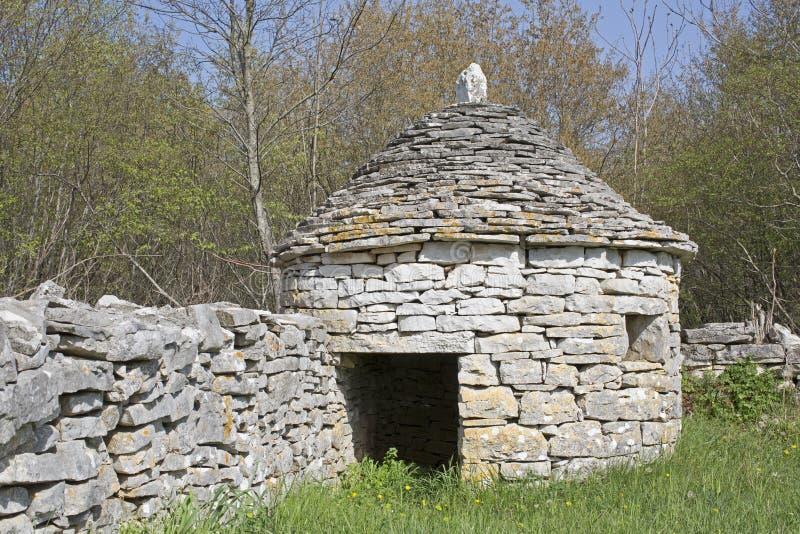 Casa de piedra en Istria fotos de archivo