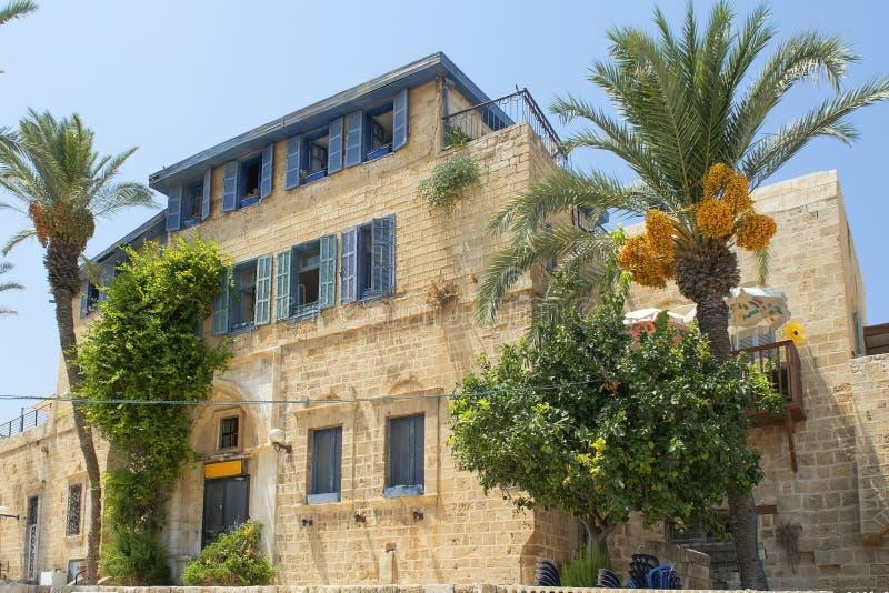 Casa de piedra vieja en Jaffa viejo, Tel Aviv, Israel fotografía de archivo