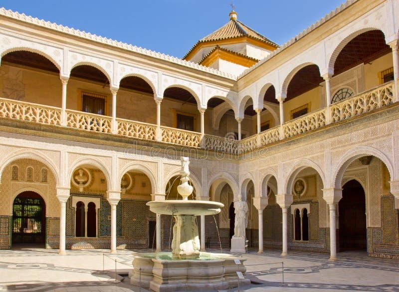 Casa de Pilatos, Siviglia, Andalusia, Spagna fotografia stock libera da diritti