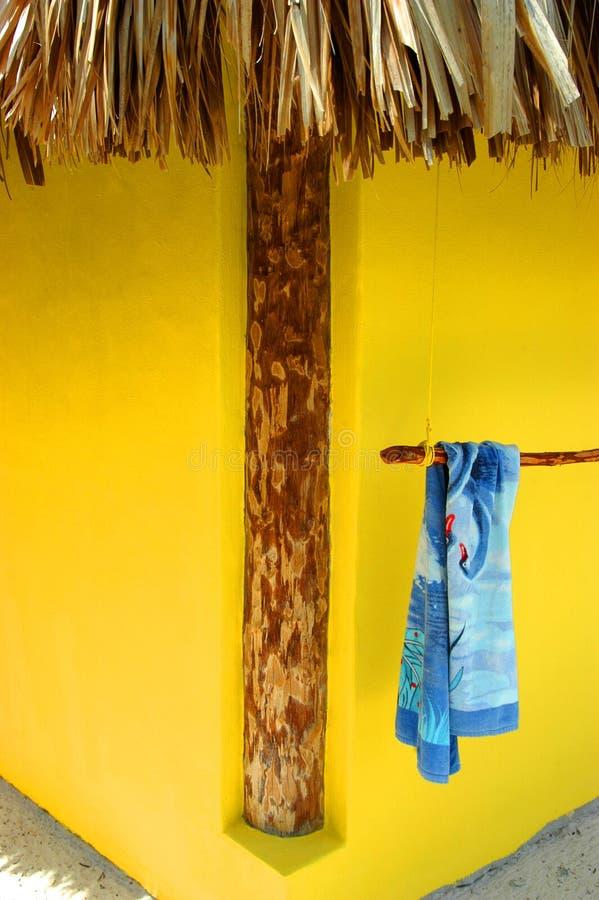 Casa de playa del estuco de Cozumel 5 fotografía de archivo libre de regalías