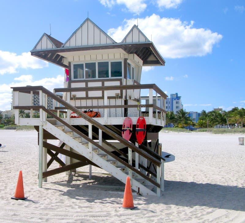 Casa de playa del guardia Miami fotografía de archivo libre de regalías