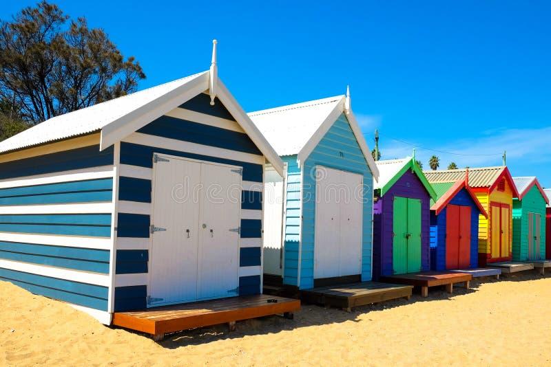 Casa de playa en Brighton Beach fotos de archivo libres de regalías