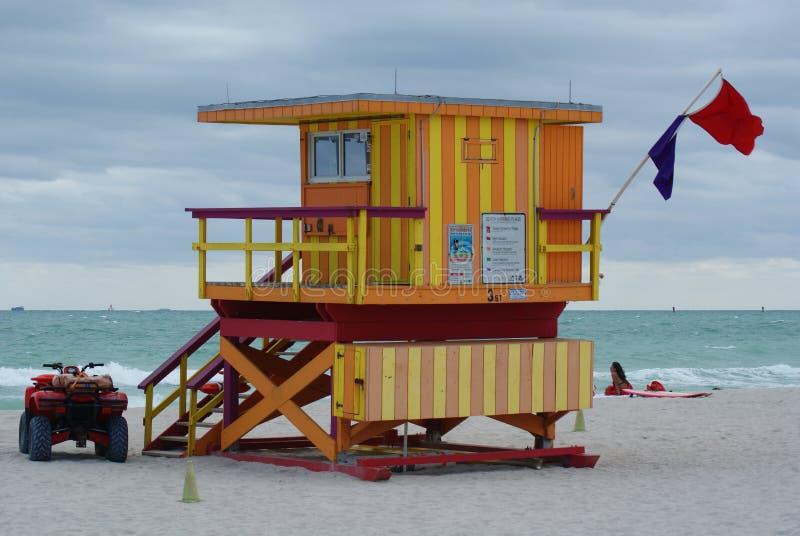 Casa de protector en Miami Beach pt.3 foto de archivo libre de regalías