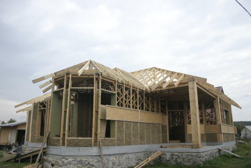 Casa de quadro feita da palha facade imagem de stock royalty free