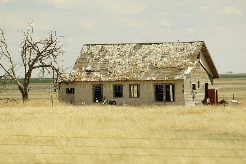 Casa de rancho velha de Texas fotos de stock