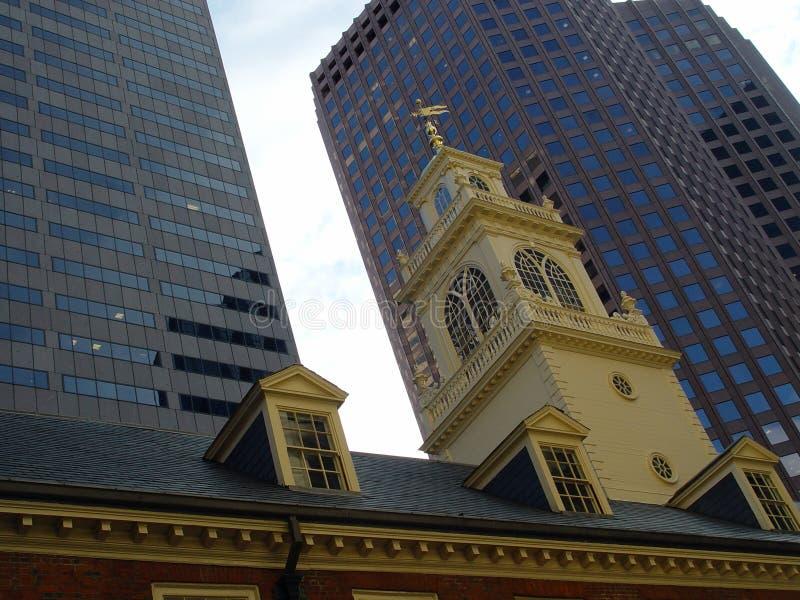 Casa de reunión de YE Olde Boston Massachusetts imagenes de archivo