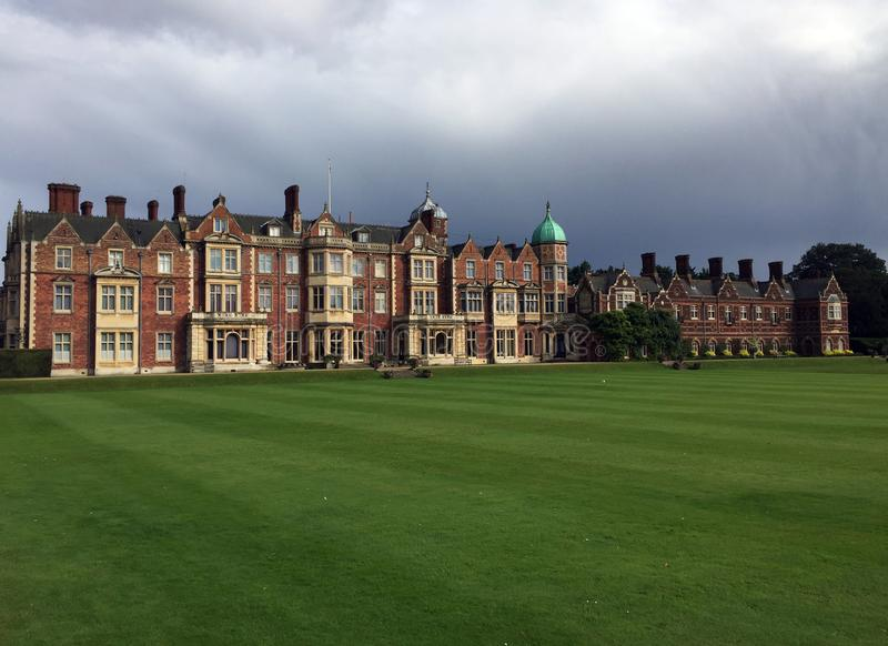 Casa de Sandringham en Norfolk, Inglaterra fotos de archivo
