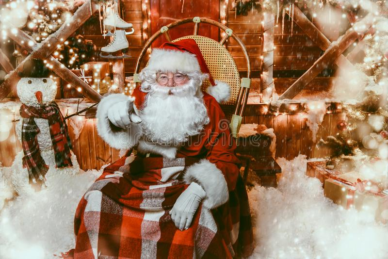Casa de Santa Claus imagem de stock royalty free