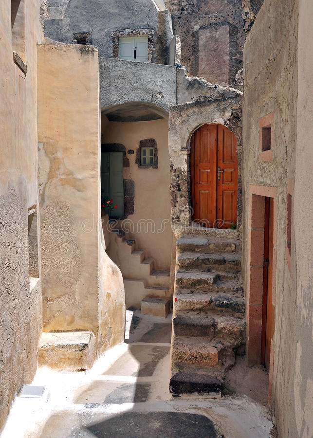 Casa de Santorini imagem de stock royalty free
