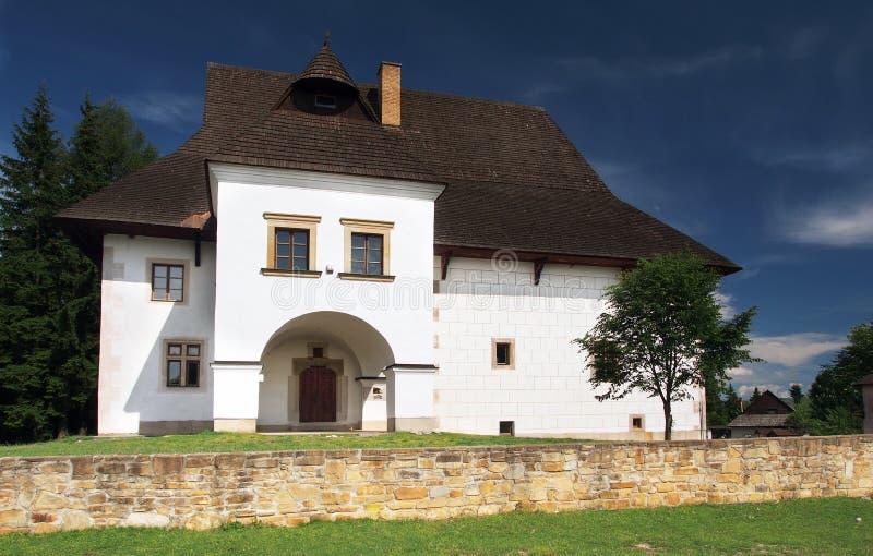Casa de señorío en el museo de Pribylina imagen de archivo