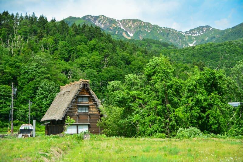 Casa de Shirakawa imagens de stock