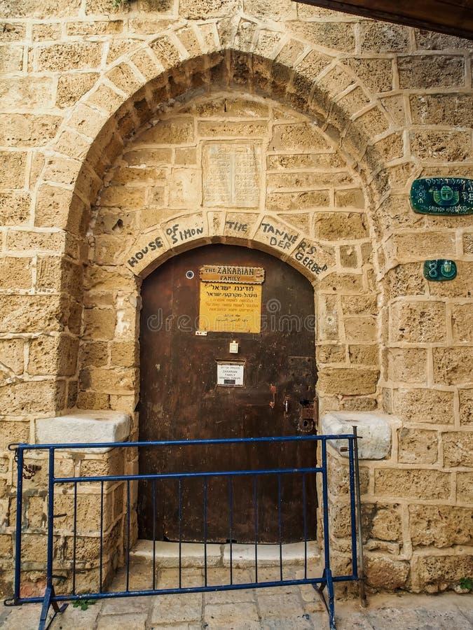Casa de Simon el Tanner en Jaffa viejo, Israel fotos de archivo libres de regalías