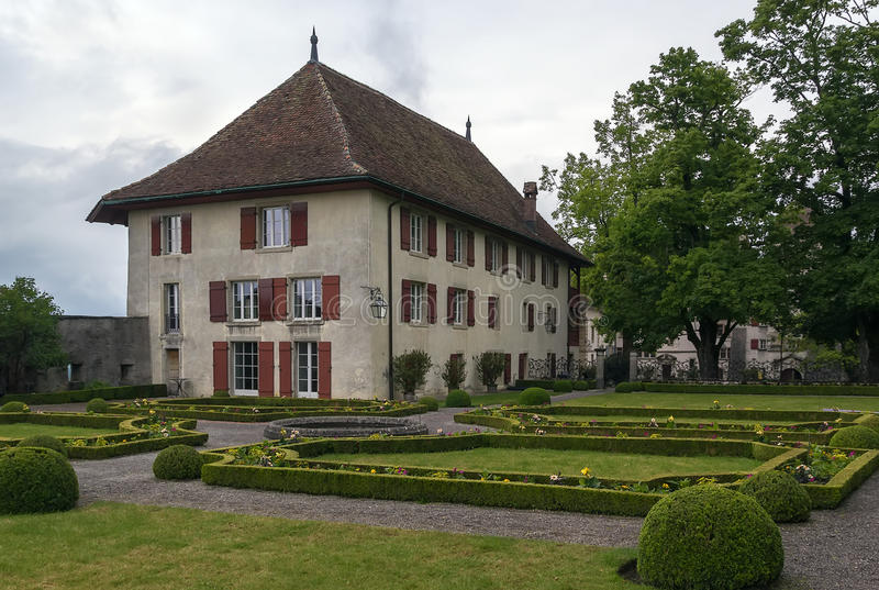 Casa de Stapfer, Lenzburg imagen de archivo