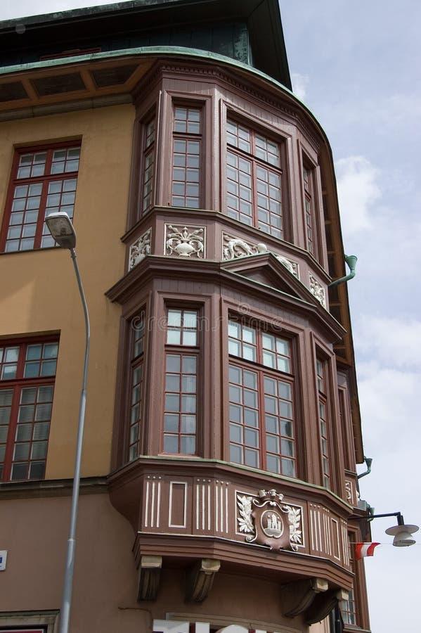 Casa de Suecia Kalmar en la esquina imagen de archivo libre de regalías