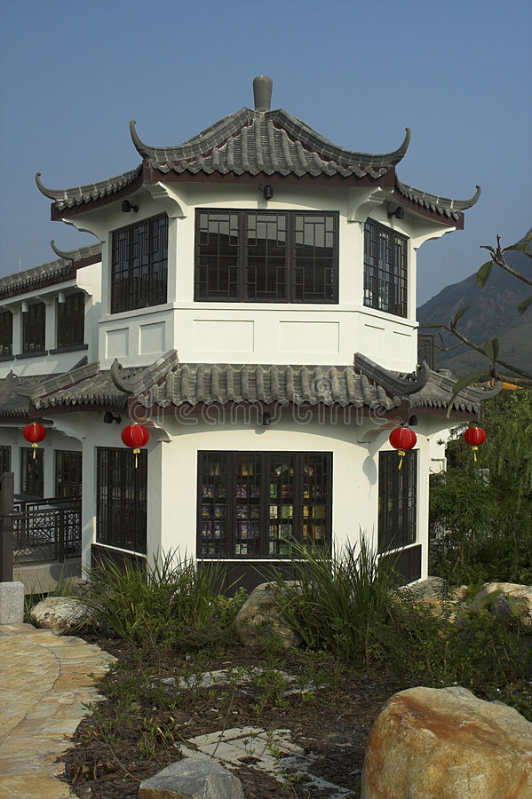 Casa de té imagen de archivo libre de regalías
