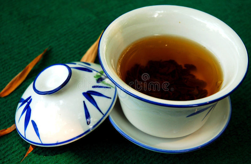 Casa de té de bambú fotografía de archivo libre de regalías