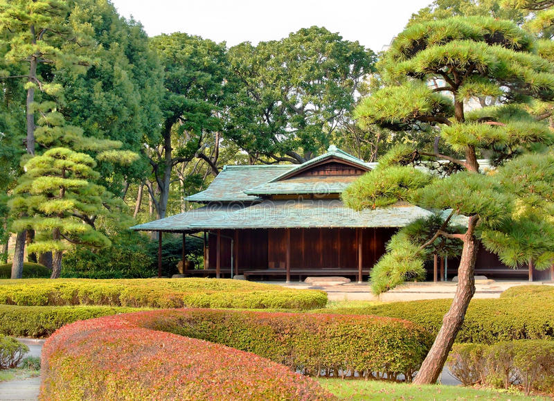 casa de té del Suwano-chaya, Tokio Plalace imperial foto de archivo libre de regalías