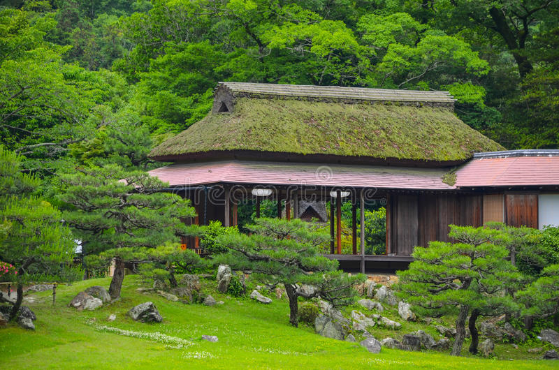 Casa de té japonesa fotografía de archivo libre de regalías