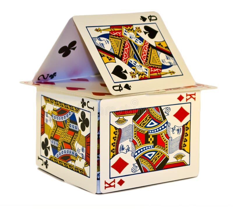 Casa de tarjetas imagen de archivo