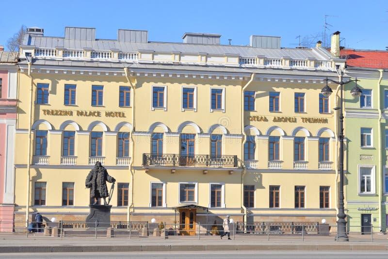 Casa de Trezzini em St Petersburg fotografia de stock royalty free