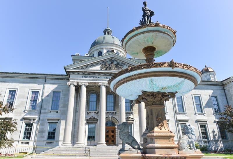 Casa de tribunal de comarca de Frontenac em Kingston, Ontário, Canadá fotos de stock