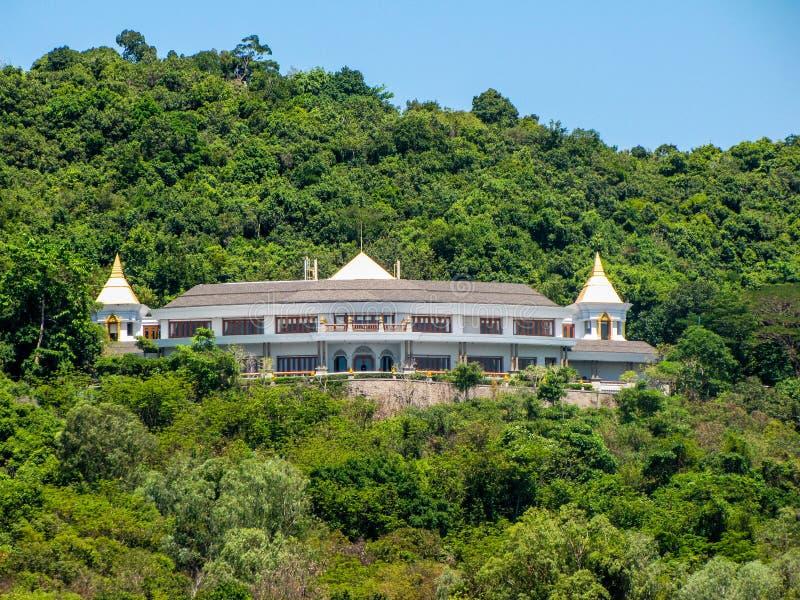 Casa de vacaciones tailandesa de la familia real imagen de archivo