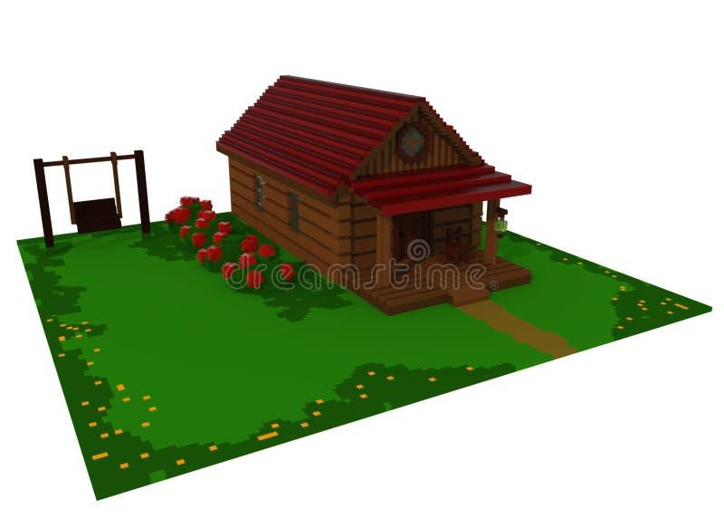 casa de verano 3d ilustración del vector