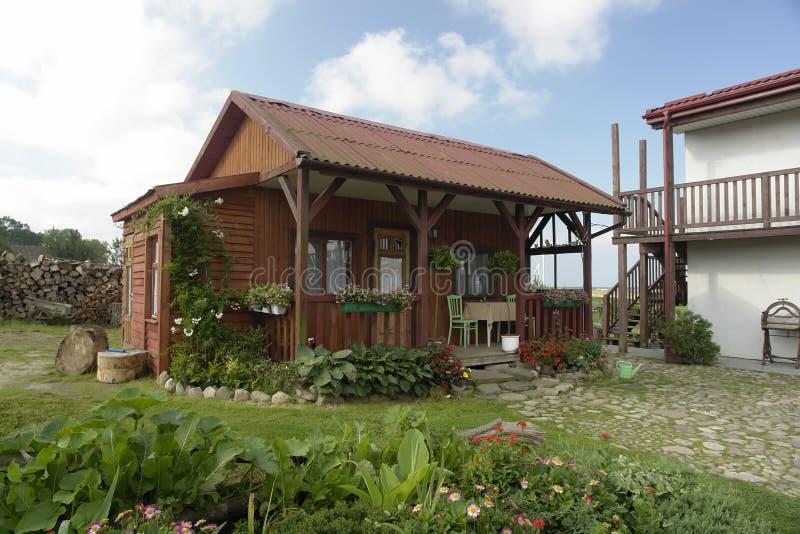 Casa de verano lujosa fotografía de archivo